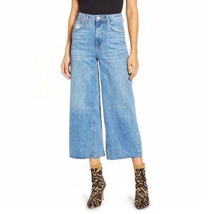 Topshop Moto Wide Leg Flare Crop High Rise Jeans
